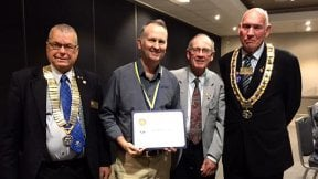 James Sleeman awarded Paul Harris Fellowship - Rotary Club of The Entrance